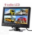 Parkavimo Sistema su 9 colio LCD ir 1-4 kameromis 12-24V