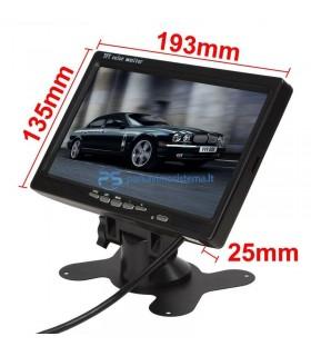 Kamera automobiliui 12V su 7 colio LCD ir įrašymo funkcija